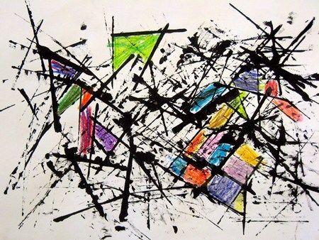 superbe et très simple... carton et peinture noire ensuite couleurs
