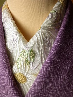 quality collar for an under kimono: