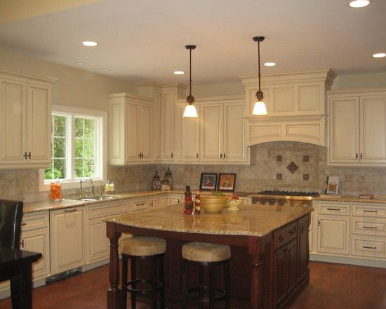 White Kitchens With Islands Bright wood kitchen with island