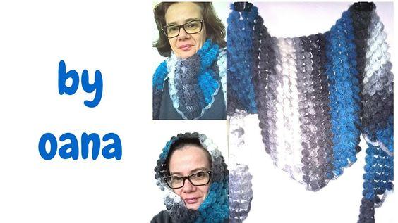 Crochet baktus scarf