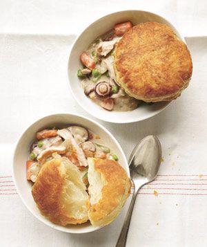 Slow-Cooker Creamy Chicken and Mushroom Potpie