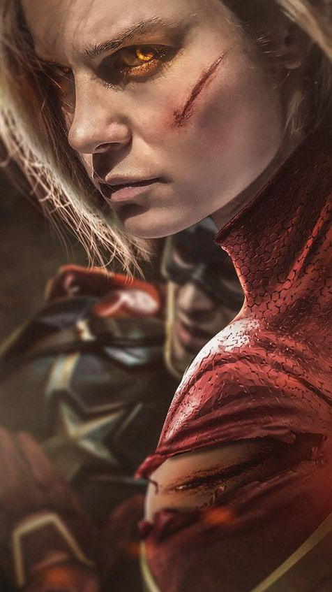 Captain Marvel Fight Iphone Wallpaper Wallpapers Marvel