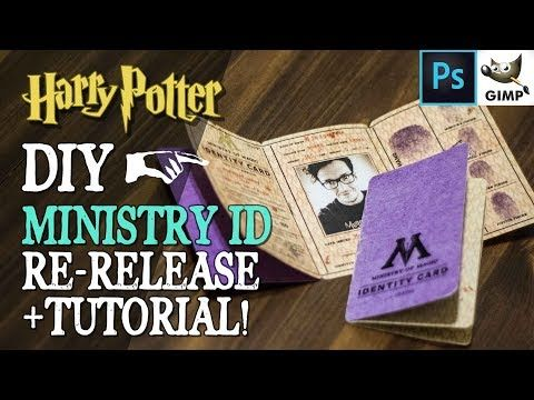 Diy Ministry Of Magic Id Re Release Youtube Harry Potter Diy Ministry Of Magic Harry Potter Birthday