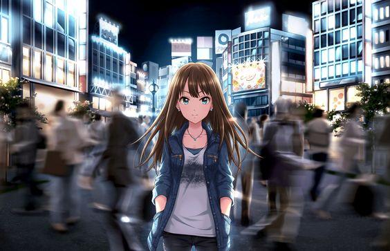 渋谷凛人ごみの中こちらを見つめる画像