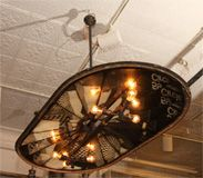 1860's Repurposed Connecticut Valley Silo Lid Chandelier thumbnail 2 Wish I could do something like this!
