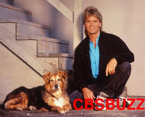MacGyver promo shot with his dog