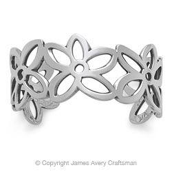James Avery Flower Cuff Bracelet