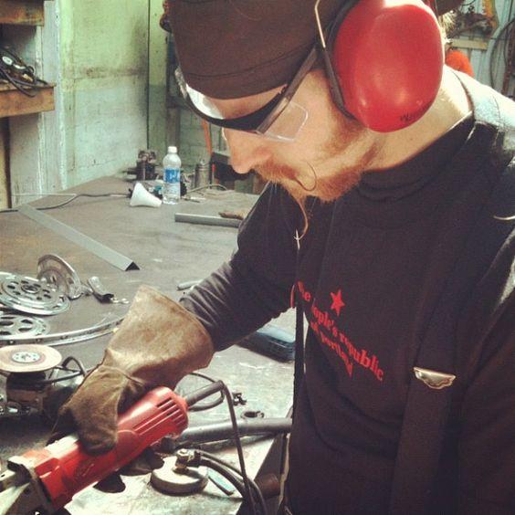 Richard Cawley of    #metalsculpture #thePROP #thepeoplesrepublicofportland #portlandtshirt  http://thepeoplespdx.com/prop-gear/    http://richartsculpture.com/