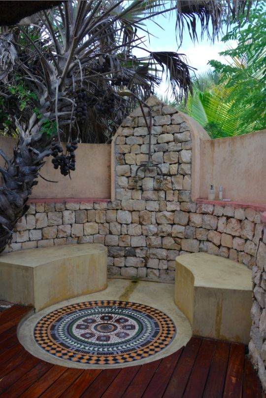 Art De Vivre by Francine Gardner  Loved our outdoor shower, in Mozambique