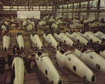 Me 109 E fuselages manufacture