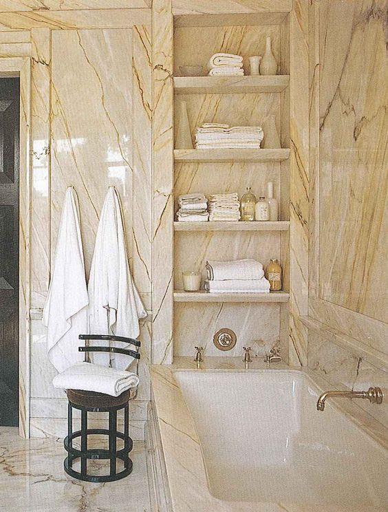 Gambrel Stone bathroom and Bathroom shelves on Pinterest