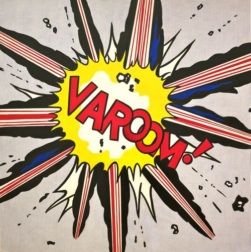 Roy lichtenstein varoom 1963 magna on canvas mixed - Roy lichtenstein obras ...
