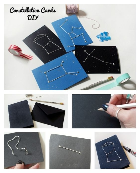 Constellation Valentine's Day Cards by Kanelstrand