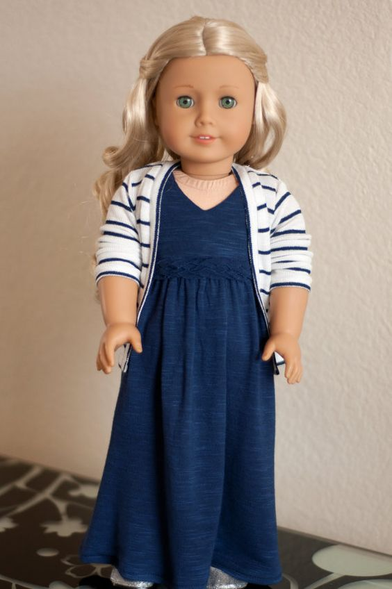 striped cardigan doll clothes and american girl dolls on