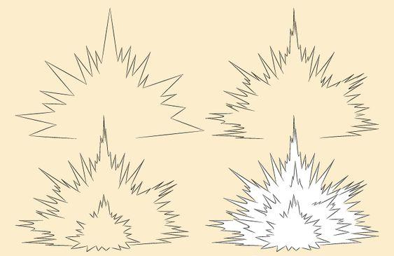 Vẽ Vụ Nổ trong Anime Manga như thế nào?