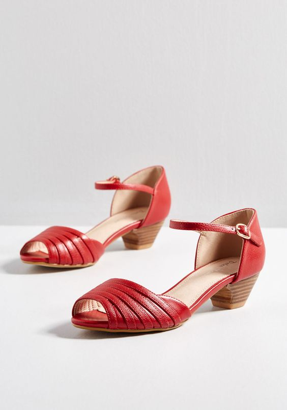 Cute Red Summer Shoes