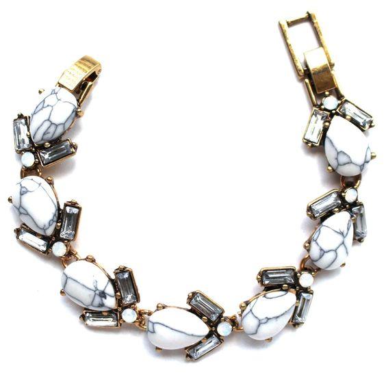Marble Teardrop Link Bracelet