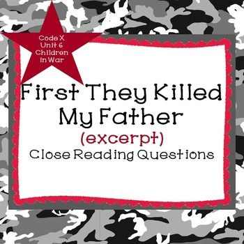 First they killed my father essay