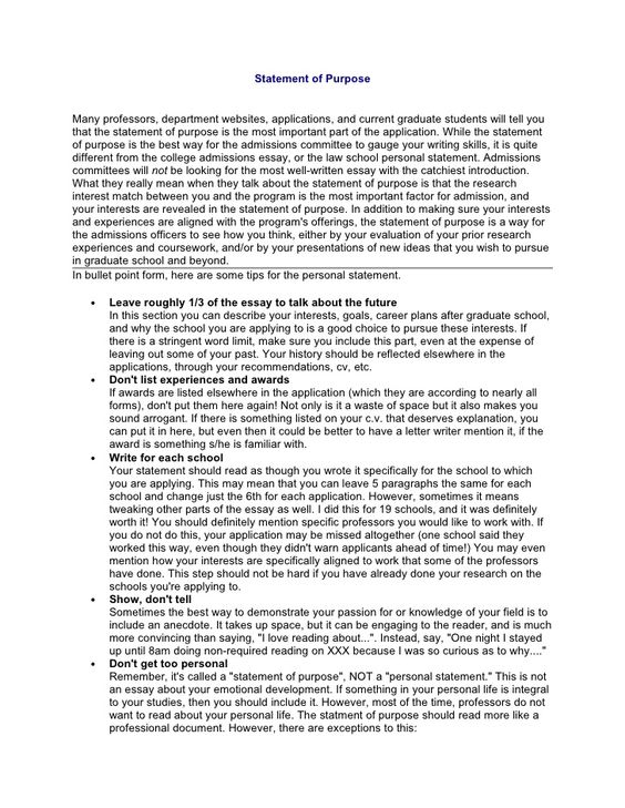 Here is a nice example of Llm statement of purpose for Llm program - resume for graduate school admission