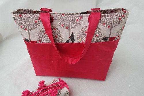 Mon sac cabas homemade - un tresor dans mon placard #diy #sac #pink