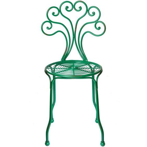 Bright Metal Garden Chair ($62) found on Polyvore | Ff | Pinterest ...