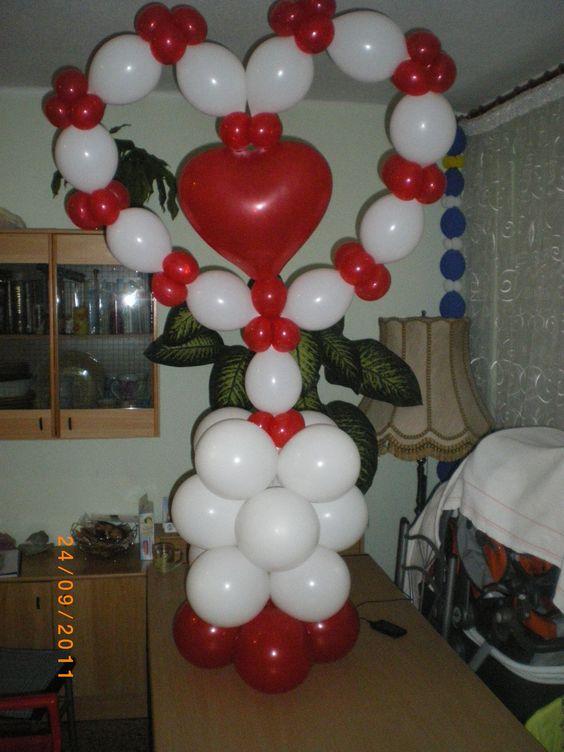 Decoracion con globos para san valentin for Decoracion globos valencia