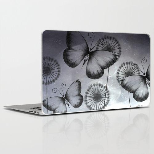 Butterflies Laptop & iPad Skin #art #society6 #loujah #laptopskins #stickers
