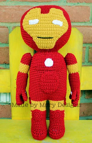 Iron Man Amigurumi Free Pattern : Ravelry: Metal Buddy - Kid Hero pattern by Mary Smith ...