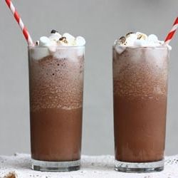 A Cozy Kitchen makes Frozen Hot Chocolate.