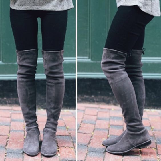 Unisa Careana Over The Knee Boot in grey | High boots, Over the ...
