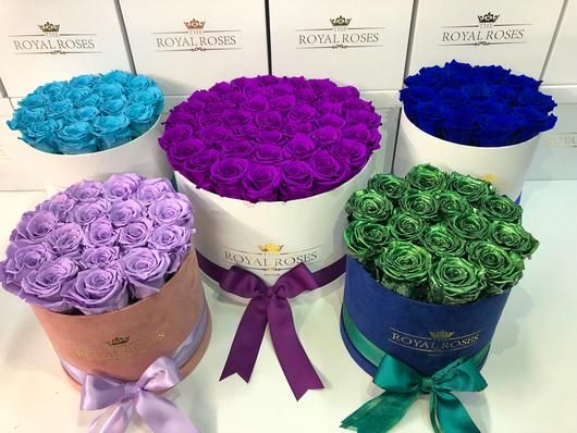 Real Long Lasting Roses Round Box Lifetime Is Over 1 Year In 2020 Preserved Roses Rose Flower Delivery