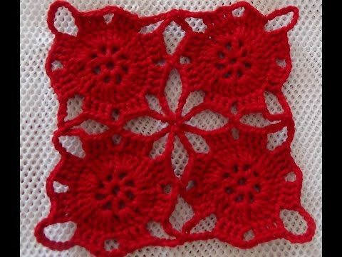 Vídeo Tutorial Como Tejer y Unir Motivos a Crochet - YouTube