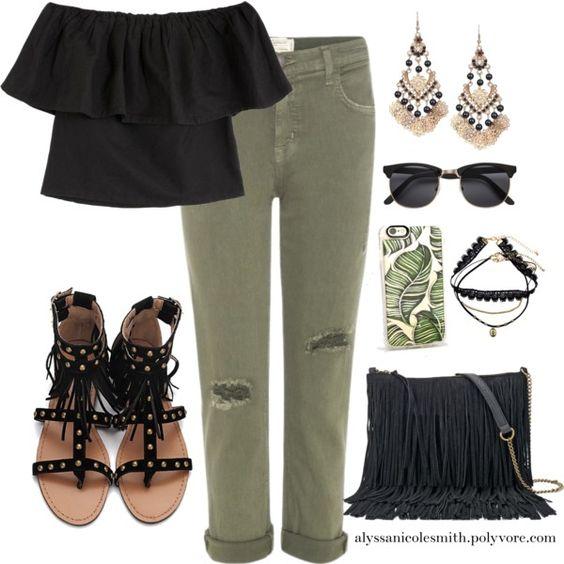 Olive Green & Black