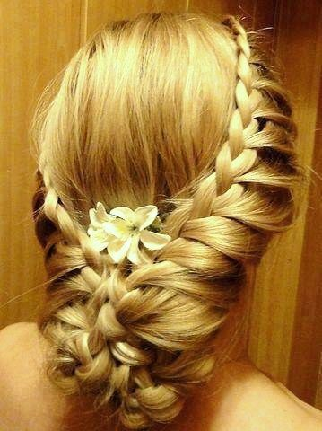 Tucked Water Fall Braid