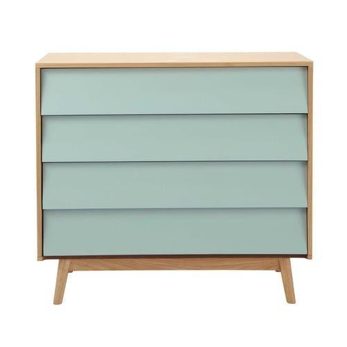 Holzkommode im Vintage-Stil, B 90cm, blau, € 199.-