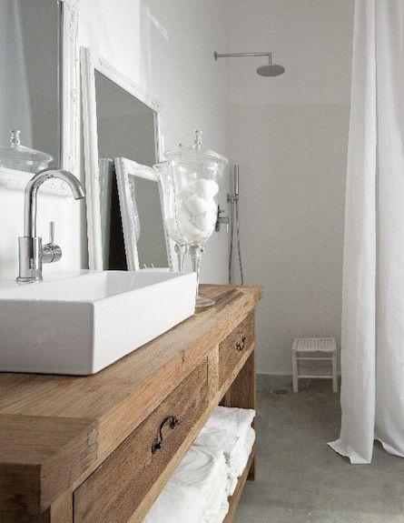 Salle de bain meuble evier d coration pinterest - Double evier salle de bain ...