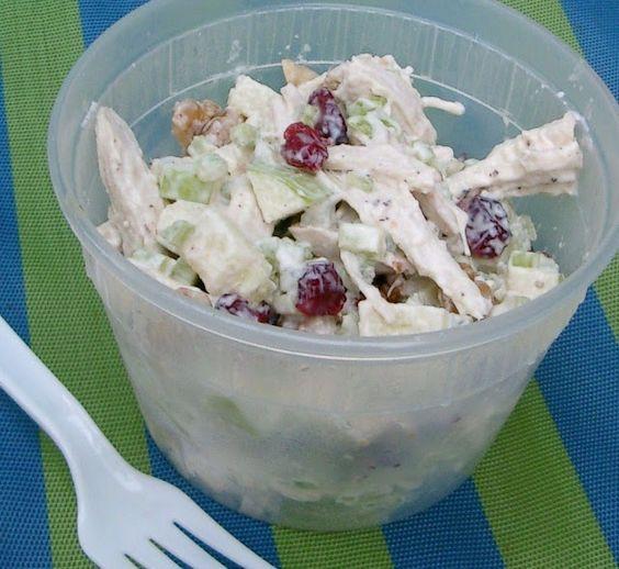 Granny Smith and Craisin Chicken Salad...love craisins