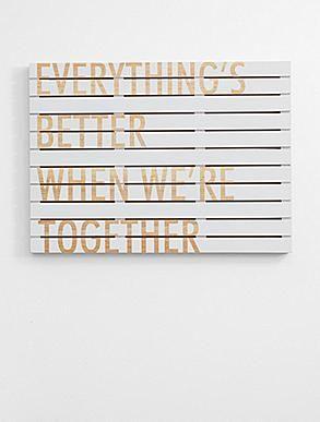 personalized slat wood sign-white