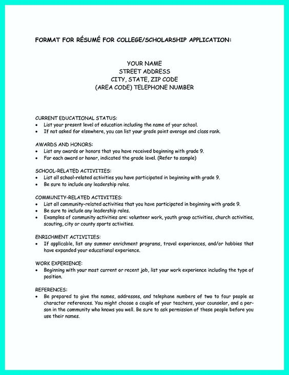 Wonderful College Application Resume How Write Simple Steps Sample Letter   What To  Include In A College To What To Include In A College Resume
