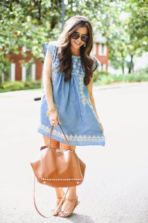 The Sweetest Thing: Baby Doll Denim Dress