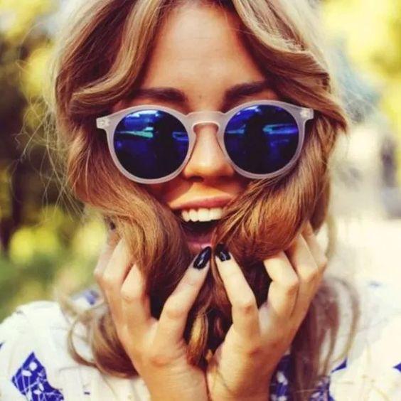 Óculos espelhados azul: