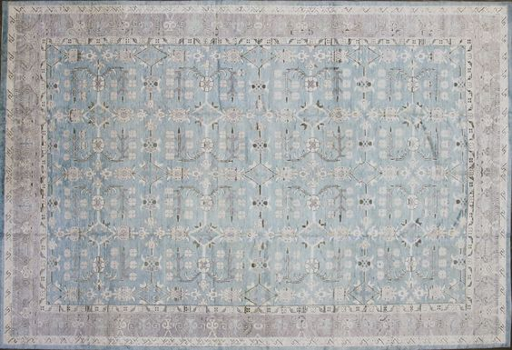 70003060 Modern  silk Transitional Zigler Custom Collection carpet,, 12'. 9 x 8'.9