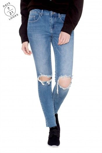 Crush Skinny Jeans Blue by Vila Clothes