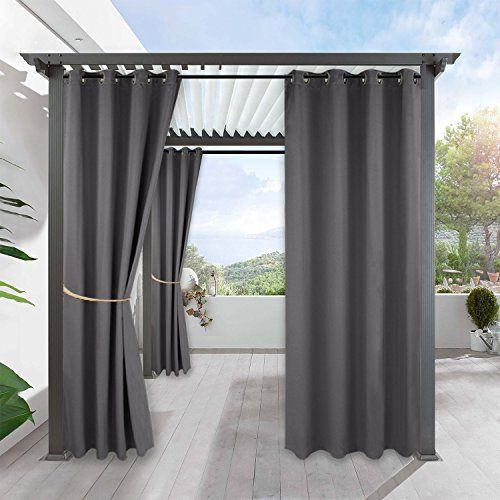 Ryb Home Waterproof Outdoor Curtains Outdoor Gazebo Curtains Home Outside Decor For Lawn Garden In 2020 Outdoor Curtains For Patio Gazebo Curtains Pergola Curtains
