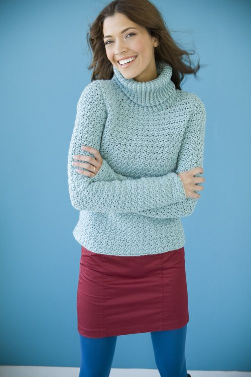 a0839d097825 Pinterest The world s catalog of ideas. ➤. Free Crochet Pattern Turtleneck  Sweater ...