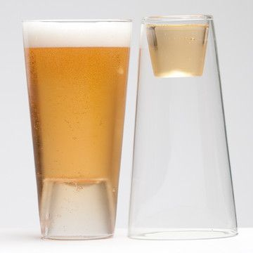 Smart design:  Beer/Shot Glass Set Of 2 now featured on Fab.