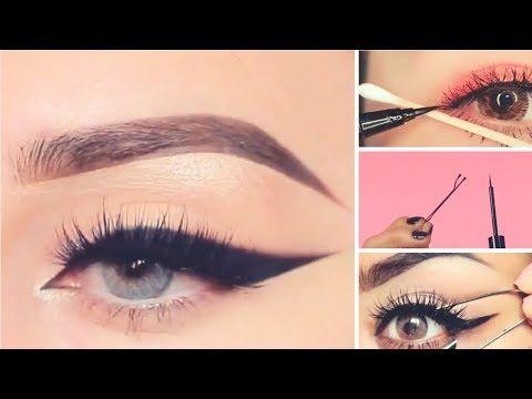 ١٥ طريقة سهلة وسريعة لتحترفي رسم الآيلاينر Youtube Eye Makeup Makeup Eye Art