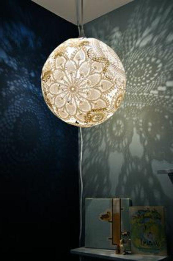 kronleuchter selber machen kugelf rmig und modern lampe selber machen 30 einmalige ideen. Black Bedroom Furniture Sets. Home Design Ideas