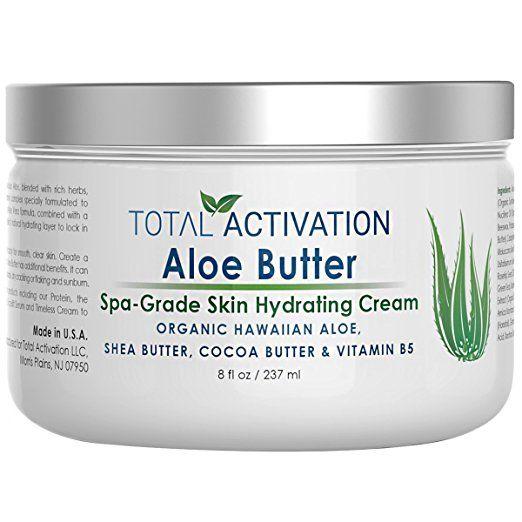 Hawaiian Aloe Vera Butter For Skin Rejuvenation Hydrating Healing Face Body Moisturizer Skin Cream Lotion For Dry Skin Organic Aloe Gel Body Moisturizer