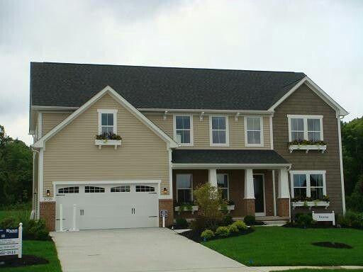 Verona - cottage elevation House progress - Ryan Homes - Verona